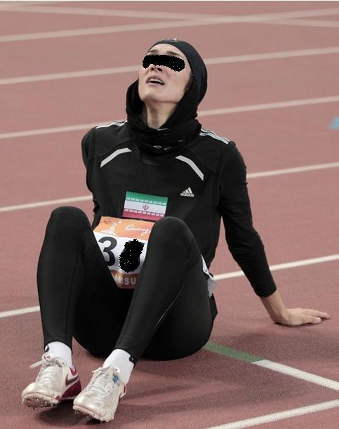 ورزشکار زن ایرانی.